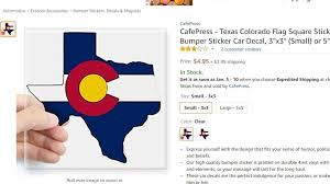 People Have A Lot Of Feelings About This Colorado Sticker That S Shaped Like Texas 9news Com