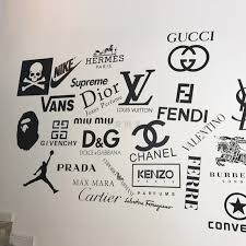 Usd 8 19 Custom Wall Sticker Clothing Tide Brand Logo Shopping Mall Shop Glass Window Decoration Background Self Adhesive Brand Logo Wholesale From China Online Shopping Buy Asian Products Online From The