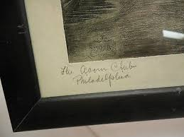 Ada Clendenin Williamson 1928 Original Etching - Acorn Club Philidelphia PA  | #500461235
