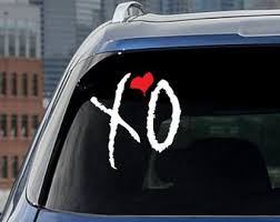 The Weeknd Xo Decal Etsy