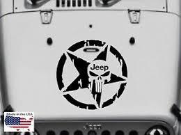 Quality Punisher Skull Hood Door Window Vinyl Decal 3 Size Fits Jeep Wrangler Ebay