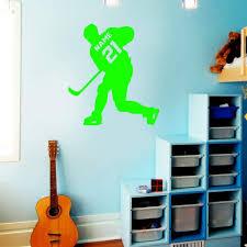 Vwaq Hockey Player Wall Decal Personalized Custom Name Sports Wall S