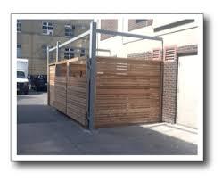 Wood Garbage Enclosures Storage Binsolutions Inc In Toronto