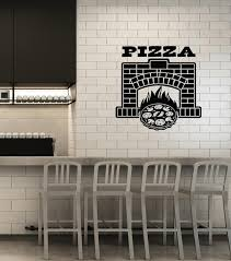 Vinyl Wall Decal Pizza Fireplace Pizzeria Italian Restaurant Decoratio Wallstickers4you