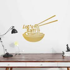 Kitchen Wall Decal Fast Food Noodles Vinyl Wall Sticker Ramen Bowl Pattern Quotes Let S Eat Art Mural Home Decor Restaurantsy108 Home Decor Decoration Patternvinyl Wall Stickers Aliexpress