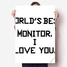 Amazon Com Diythinker World Best Monitor I Love You Sticker Decoration Poster Playbill Wallpaper Window Decal Home Kitchen