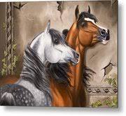 Alert Arabians Painting by Karla Smith
