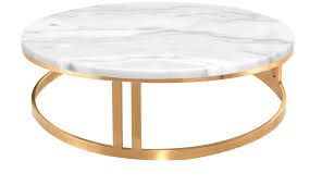 nicola coffee table in white stone top