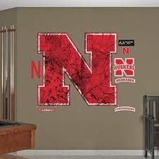 Fathead Peel And Stick Decals Ncaa Nebraska Cornhuskers Realtree Logo Fathead Real Big Decals 42 W X 3 New