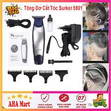 HÓT HÓT] Tông đơ cắt tóc cạo viền surker 5801 cao cấp - Tông đơ cắt tóc đa  năng dùng cho gia đình và salon giá rẻ