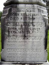 Abigail Dean Dorn (1821-1844) - Find A Grave Memorial