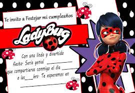 Tarjetas De Cumpleanos Para Imprimir Invitacion De Ladybug