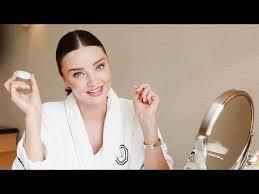 miranda kerr s nighttime makeup routine