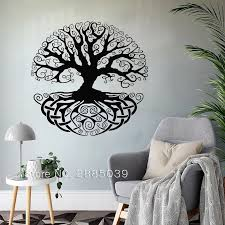 Tree Of Life Vinyl Wall Stickers Removable Decal Bedroom Yoga Studio Branch Tattoo Home Decoration Art Poster Wallpaper Ll2064 Wall Stickers Aliexpress