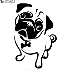 Tri Mishki Hzx640 13x20cm Animal Pug Dog Car Sticker Auto Windscreen Vinyl Decals Accessories Car Sticker Car Stickers Aliexpress