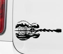 The Decal Store Com By Yadda Yadda Design Co Car Guitar Earth And Sea Car Vinyl Decal Sticker C Yydc Color A