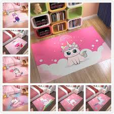 Pink Unicorn Series Carpets Flannel Cartoon 3d Printed Children Play Area Rugs Kids Room Crawl Floor Mat Girls Room Decor Carpet Carpet Aliexpress
