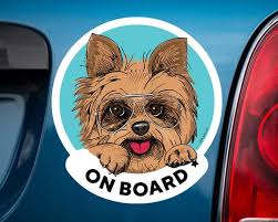Yorkshire Terrier Board Car Sticker For Women Yorkie Decal Is Etsy