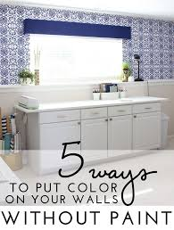 color your walls without paint tips