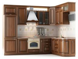 an oven into a wood cabinet