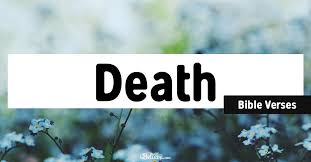 bible verses about death peace comfort in scripture