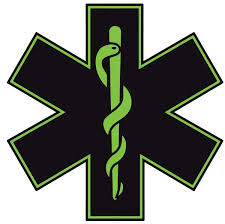 Black Green Star Of Life Reflective Window Decal Police Fire Ems Viny Graphics Stickers Decals Dkedecals