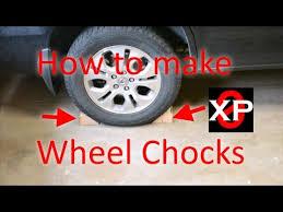 making homemade wheel chocks