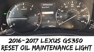 2018 lexus gs350 oil maintenance light