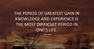 gaining experience and knowledge quotes