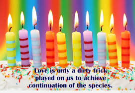 happy birthday quote candles
