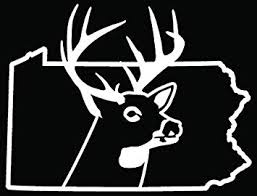 Amazon Com Pennsylvania State Deer Buck Hunting Car Truck Window Bumper Vinyl Graphic Decal Sticker 6 Inch 15 Cm Wide Gloss White Color Automotive