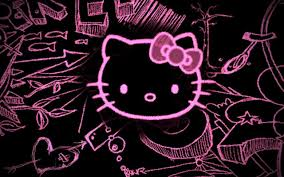 76 Hello Kitty Black And Pink Wallpaper On Wallpapersafari