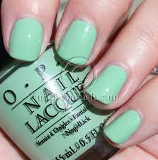 mint green nail polish parisions
