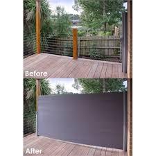 x 3m charcoal retractable patio screen