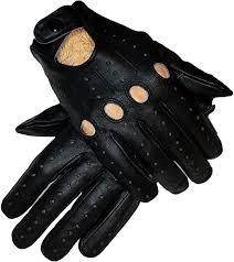 genuine leather driving gloves for men