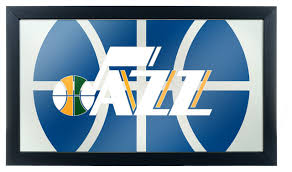 Nba Framed Logo Mirror Fade Utah Jazz Contemporary Game Room Wall Art And Signs By Trademark Global
