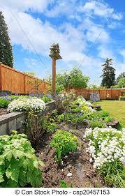 backyard landscaping flower beds