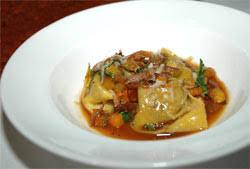 Recipe for Duck Tortelli, Zucchini, Rosemary, Chef Halberg, Via Matta,  Boston, tarChefs.com