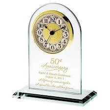 50th anniversary personalized gl clock