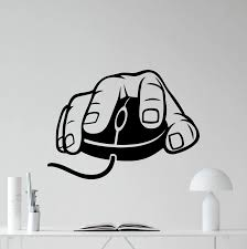 Computer Mouse Wall Decal Gaming Gamer Video Game Vinyl Sticker Kids Teen Room Wall Art Bedroom Decor Free Shipping Bedroom Decor Teen Roomwall Decals Aliexpress