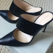 banana republic shoes leather mules