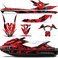 Amazon Com Wholesale Decals Jet Ski Graphics Kit Sticker Decal Compatible With Sea Doo Gti Se130 2011 2014 Reaper V2 Red Automotive