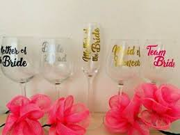 Decal Label For Wedding Party Champagne Flutes Glasses Wine Glasses Stickers Ebay
