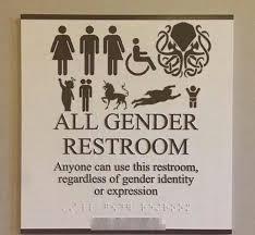 all gender restroom bathroom signs