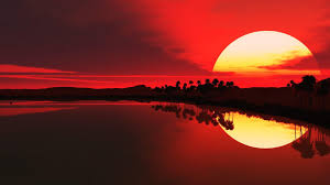 red sunrise wallpapers top free red