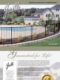 Jerith Aluminum Fence Residential Brochure Strength Of Materials Swimming Pool