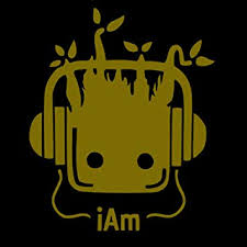 Amazon Com Signage Cafe I Am Groot Vinyl Decal For Windows Cars Trucks Tool Boxes Laptops And Tablets 4 Inches Gold Automotive