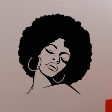 African Woman Wall Decal Afro Hippie Girl Face Vinyl Sticker Home Interior Decorations Glamour Beauty Hair Salon Decor Am07 Wall Stickers Aliexpress