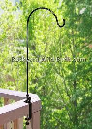 Deck Bird Feeder Pole Wide Clamp Bird Feeder Poles Bird Feeder Hangers Bird House Kits