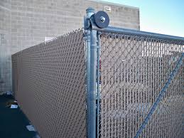 Chain Link With Privacy Slats Gallery Phillips Outdoor Services Onalaska Wi